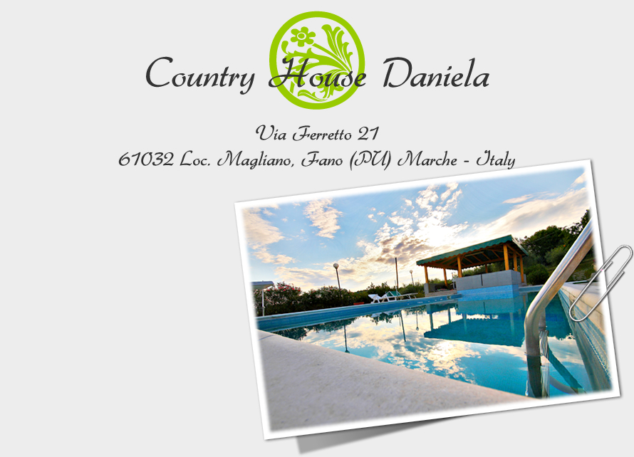 Country House Daniela - Your holidays in the countryside with swimming pool, tennis court, near the beach and mountains, in the beautiful inland of Marche region - Via Ferretto 21, 61032 Fano Loc. Magliano (PU) Marche - Italy
